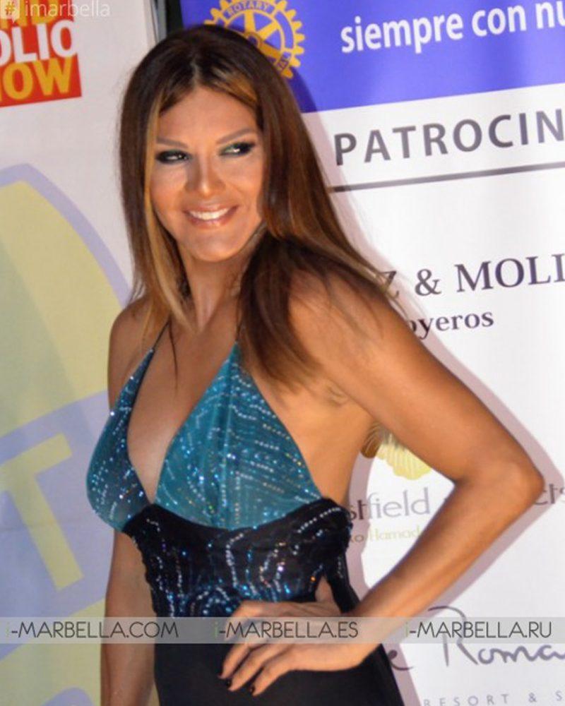 Ivonne Reyes en Gala Rotary Marbella
